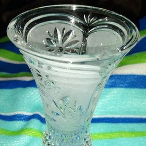 Frosted Crystal Vase